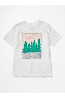 Girls' Nico Tee, White, medium