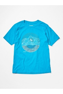 Girls' Nico Tee, Ceramic Blue, medium