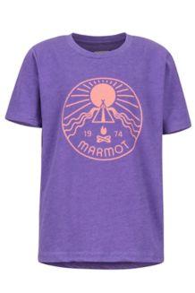Girls' Nico Tee, Purple Rush Heather, medium