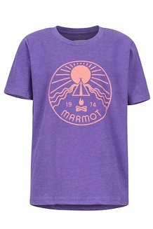 Girls' Nico Tee, Purple Rush Heather, medium