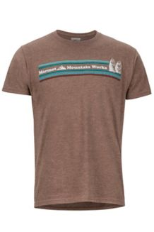 MMW SS Tee, Brown Heather, medium