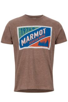 Mountain Tab SS Tee, Brown Heather, medium