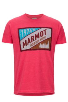 Mountain Tab SS Tee, Red Heather, medium