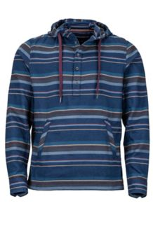 Rolin Heavyweight Flannel LS Hoody, Arctic Navy, medium