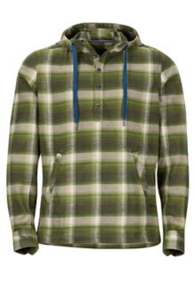 Rolin Heavyweight Flannel LS Hoody, Bomber Green, medium