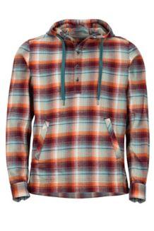 Rolin Heavyweight Flannel LS Hoody, Dark Rust, medium