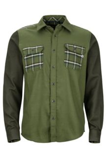 Pinyon Heavyweight Flannel LS Shirt, Bomber Green/Rosin Green, medium