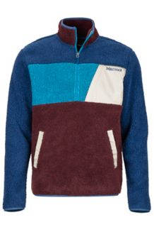 Noland 1/2 Zip Fleece Jacket, Vintage Navy/Burgundy, medium