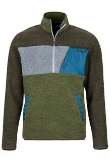 Noland 1/2 Zip Fleece Jacket, Rosin Green/Bomber Green, medium