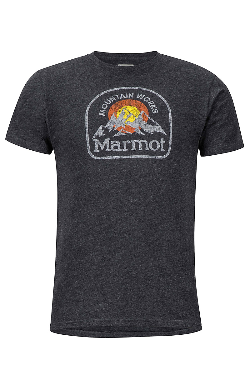 Altitude Tee SS, Charcoal Heather, large