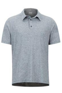 Wallace Polo SS Shirt, Black Heather, medium