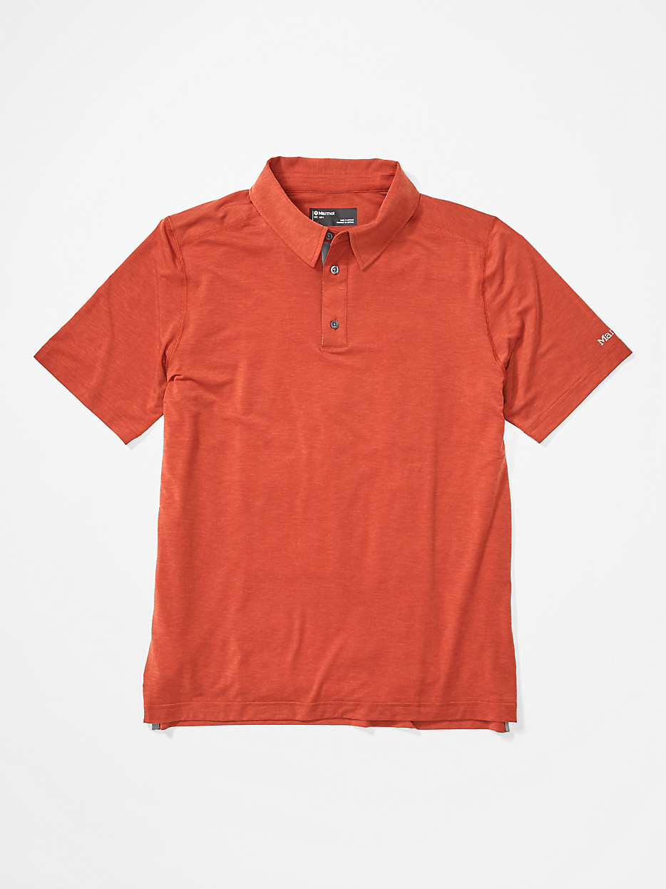 Must Have Marmot Men's Wallace Short-Sleeve Polo Shirt in Picante ...