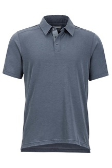 Men's Wallace Short-Sleeve Polo Shirt, Steel Onyx Heather, medium