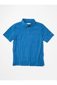 Men's Wallace Short-Sleeve Polo Shirt, Arctic Navy Heather, medium
