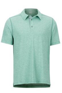 Wallace Polo SS Shirt, Pond Green Heather, medium
