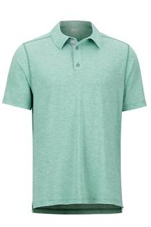 Wallace Polo SS Shirt, Pond Green Heather, medium