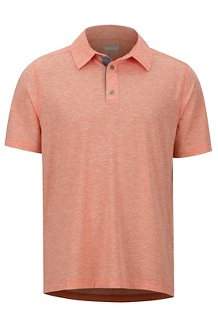 Wallace Polo SS Shirt, Orange Haze Heather, medium