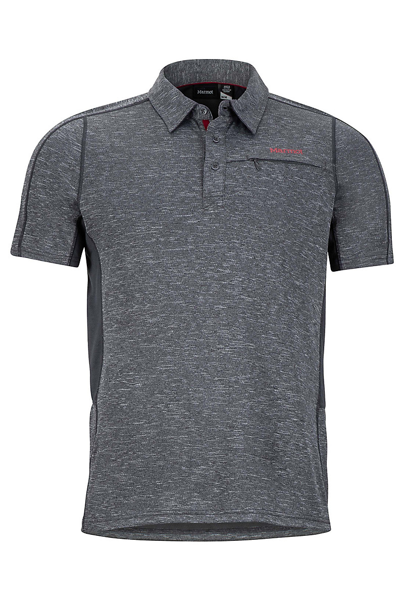 Drake Polo SS, Slate Grey, large