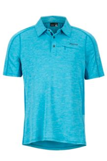 Drake Polo SS Shirt, Turkish Tile, medium