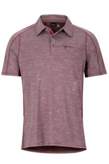 Drake Polo SS Shirt, Burgundy, medium