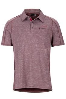 Drake Polo SS Shirt, Burgundy, medium