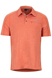 Drake Polo SS Shirt, Orange Haze, medium