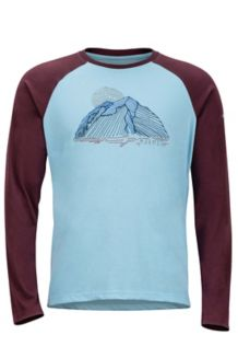 Owens LS, Sky High/Burgundy, medium
