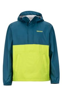 PreCip Anorak, Denim/Macaw Green, medium