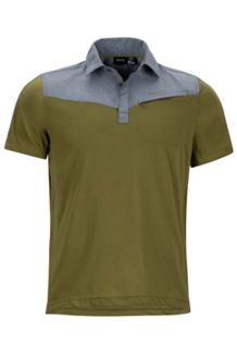 Gulch Polo SS, Military Green/Steel Onyx Heather, medium