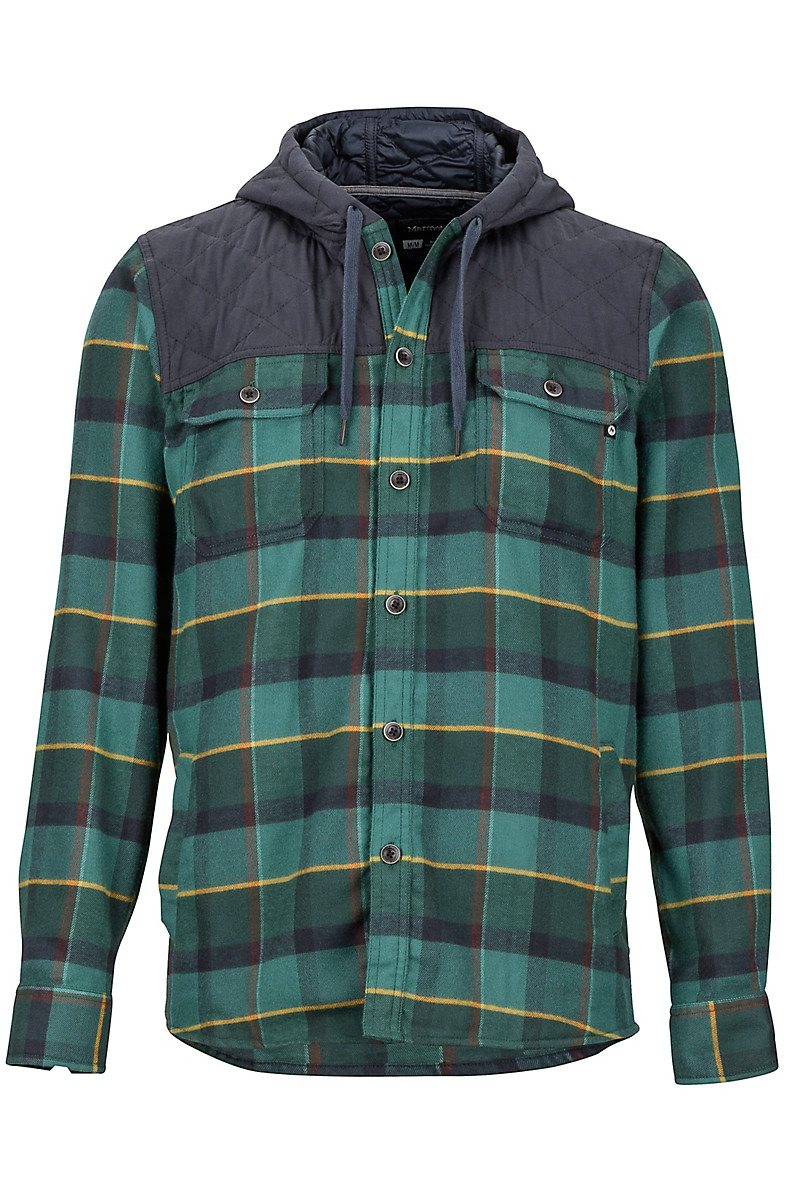 a2becdd8 Silos Heavyweight Flannel LS Shirt, Mallard Green/Dark Steel, large