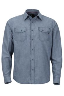 Emerson LS Shirt, Dark Indigo Heather, medium