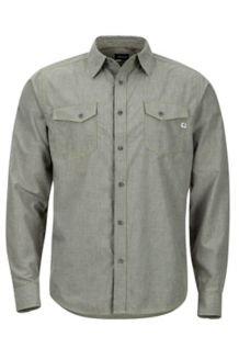 Emerson LS Shirt, Forest Night Heather, medium