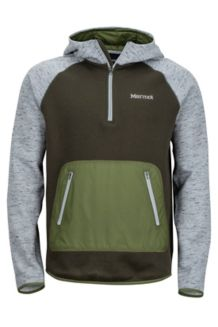 Gunnison Hoody, Grey Storm Heather/Rosin Green, medium