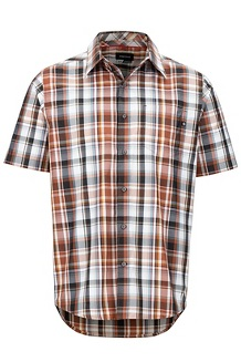 Men's Lykken Short-Sleeve Shirt, Terracotta, medium