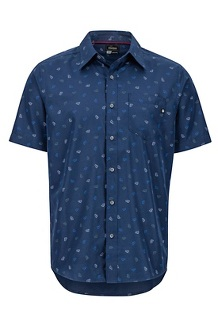 Men's Lykken Short-Sleeve Shirt, Arctic Navy Marmot, medium