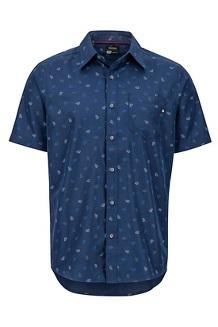 Men's Lykken Short-Sleeve Shirt, Arctic Navy Marmot, medium