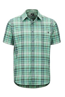 Men's Lykken Short-Sleeve Shirt, Pond Green, medium
