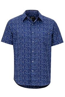 Men's Lykken Short-Sleeve Shirt, Arctic Navy Angles, medium