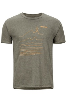 Caligata SS Tee, Olive Heather, medium