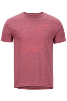 Caligata SS Tee, Burgundy Heather, medium