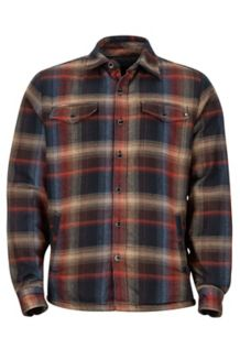 Ridgefield LS Flannel Shirt, Black, medium