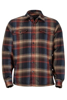 Men's Ridgefield Heavyweight Flannel Long-Sleeve Shirt, Black, medium