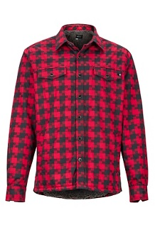Men's Ridgefield Heavyweight Flannel Long-Sleeve Shirt, Brick, medium