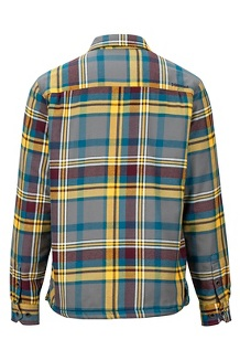 Men's Ridgefield Heavyweight Flannel Long-Sleeve Shirt, Bright Steel, medium