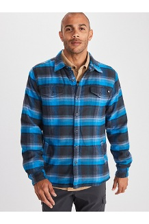 Men's Ridgefield Heavyweight Flannel Long-Sleeve Shirt, Dark Indigo, medium