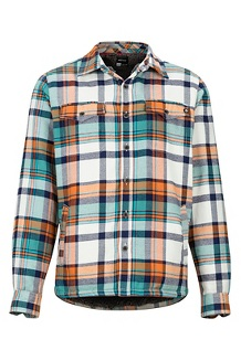 Men's Ridgefield Long-Sleeve Flannel Shirt, Moonstruck, medium