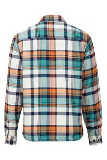 Men's Ridgefield Heavyweight Flannel Long-Sleeve Shirt, Moonstruck, medium