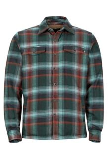Ridgefield LS Flannel Shirt, Mallard Green, medium