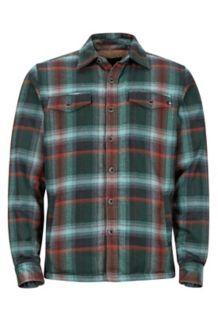 Ridgefield LS Flannel Shirt, Mallard Green, medium