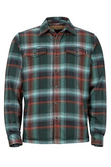 Men's Ridgefield Long-Sleeve Flannel Shirt, Mallard Green, medium